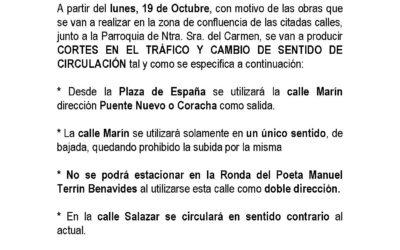 "Nota Informativa Tráfico ""XVII Subida Ciudad de Montoro"""