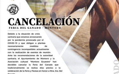 Comunicado sobre la cancelación de la Feria del Ganado de Montoro 2020.