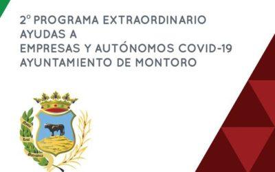 2º PROGRAMA EXTRAORDINARIO AYUDAS A EMPRESAS Y AUTÓNOMOS COVID-19 AYUNTAMIENTO DE MONTORO.