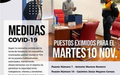 Medidas emitidas por la Junta de Andalucía sobre mercadillos municipales