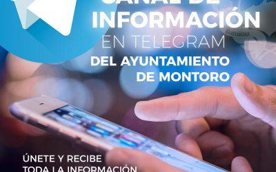 Nuevo canal de Telegram del Ayuntamiento de Montoro