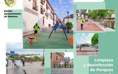 limpieza y DESINFECCIÓN de parques y zonas de descanso