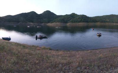 competicion de pesca de c.d el atranque en el embalse de San Rafael de Navallana