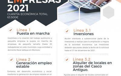 Convocatoria Subvenciones a Empresas y autónomos de Montoro 2021