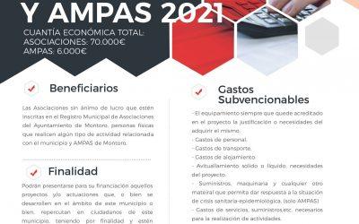 CONVOCATORIA SUBVENCIONES A ASOCIACIONES DE MONTORO 2021